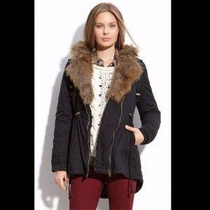 ANTHROPOLOGIE X SANCTUARY - Faux Fur Hooded Parka